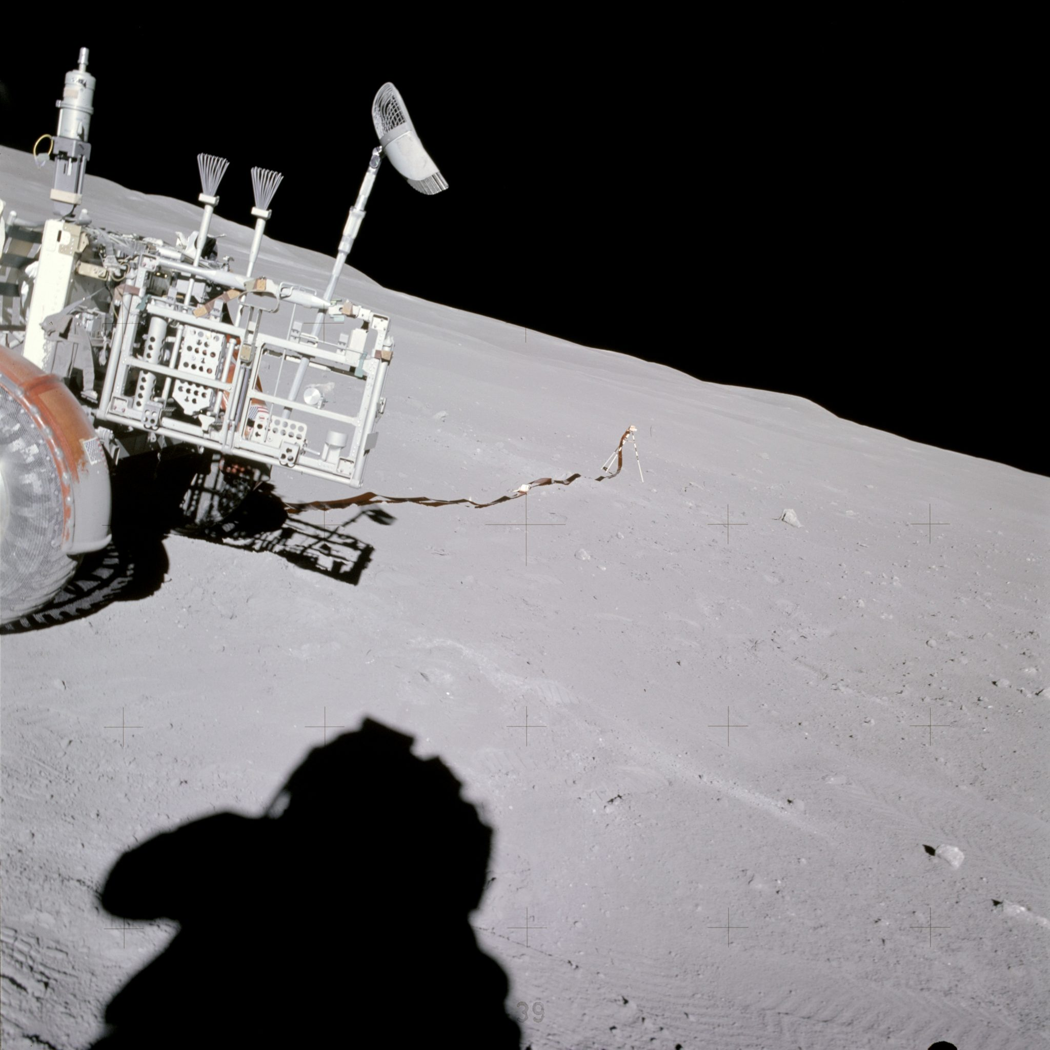 Lunar Portable Magnetometer Apollo 16 Lunar Roving Vehicle Extravehicular activity Spacewalk Moon