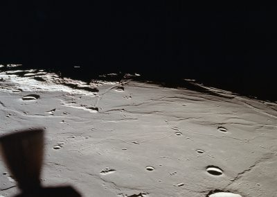 Apollo 11 Lunar Landing Module view of landing site Sea of Tranquility
